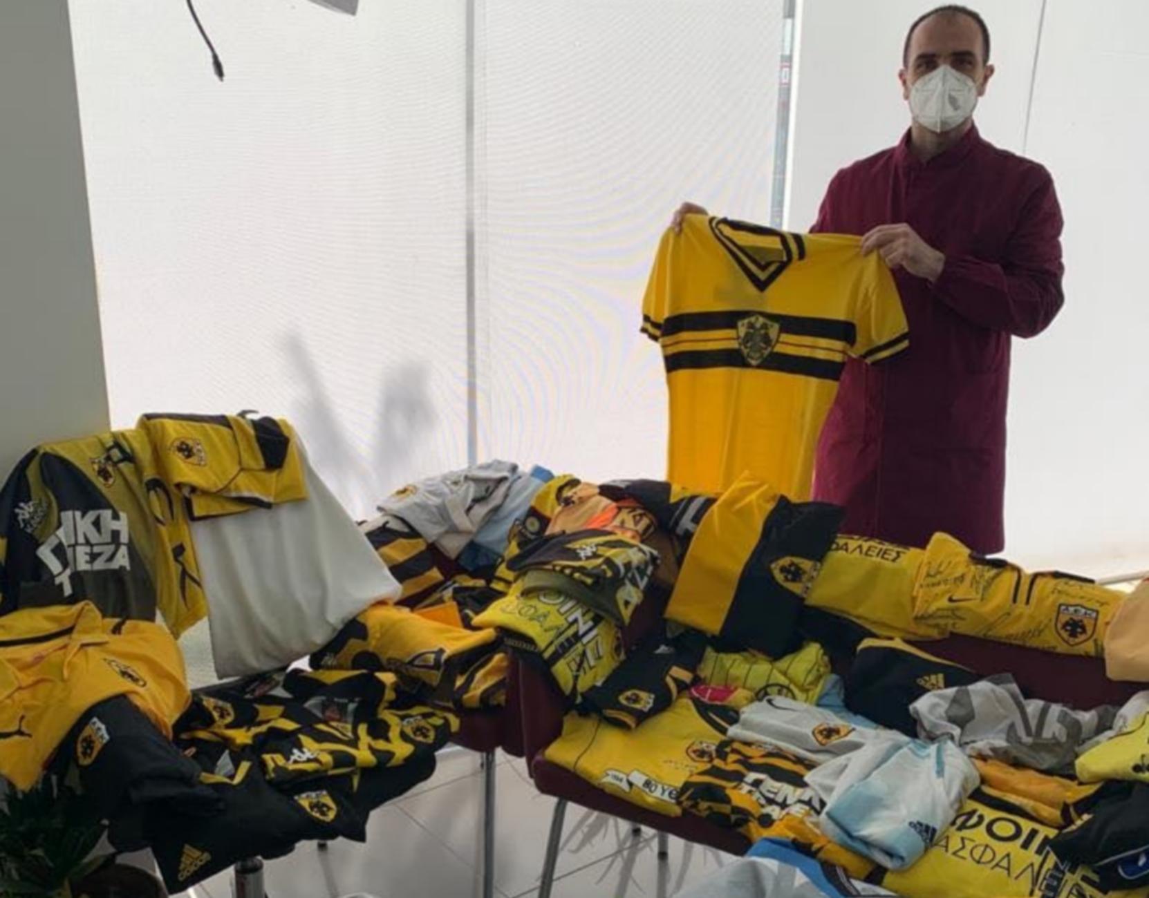 Οπαδός της ΑΕΚ δώρισε 55 συλλεκτικές φανέλες για το μουσείο της «Αγιά Σοφιάς» (pics)