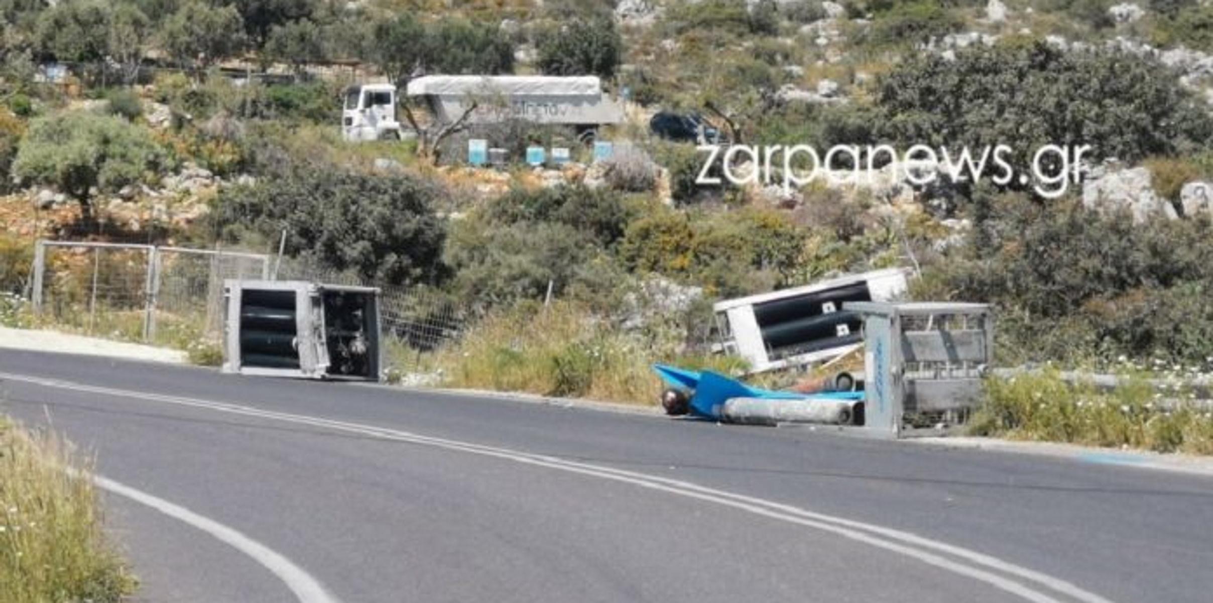 Κρήτη: Και ξαφνικά η άσφαλτος γέμισε φιάλες υγραερίου (pics)