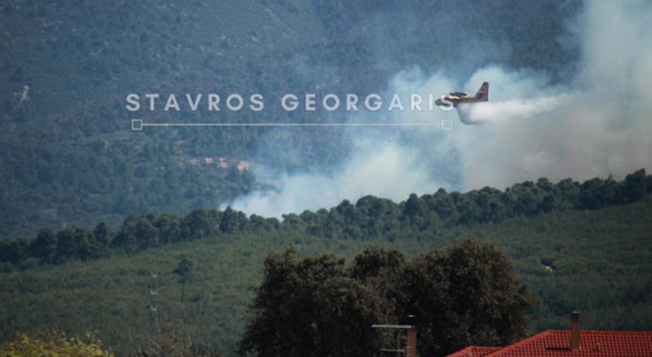 Φωτιά στο Χιλιομόδι Κορινθίας (pics)