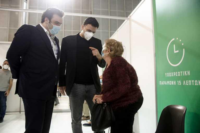 Κικίλιας και Πιερρακάκης έκαναν «αυτοψία» στο mega εμβολιαστικό κέντρο στο Ελληνικό