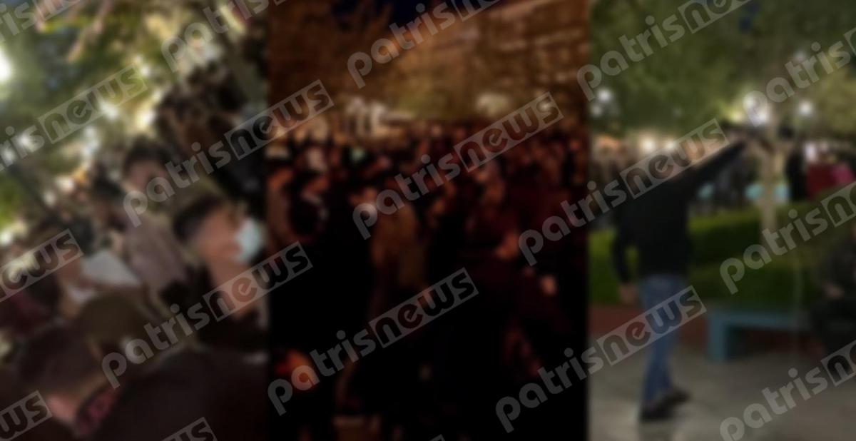 Πύργος: Ζεϊμπέκικα με… πίστα την κεντρική πλατεία – Νέο κορονοπάρτι στην πόλη (pics)