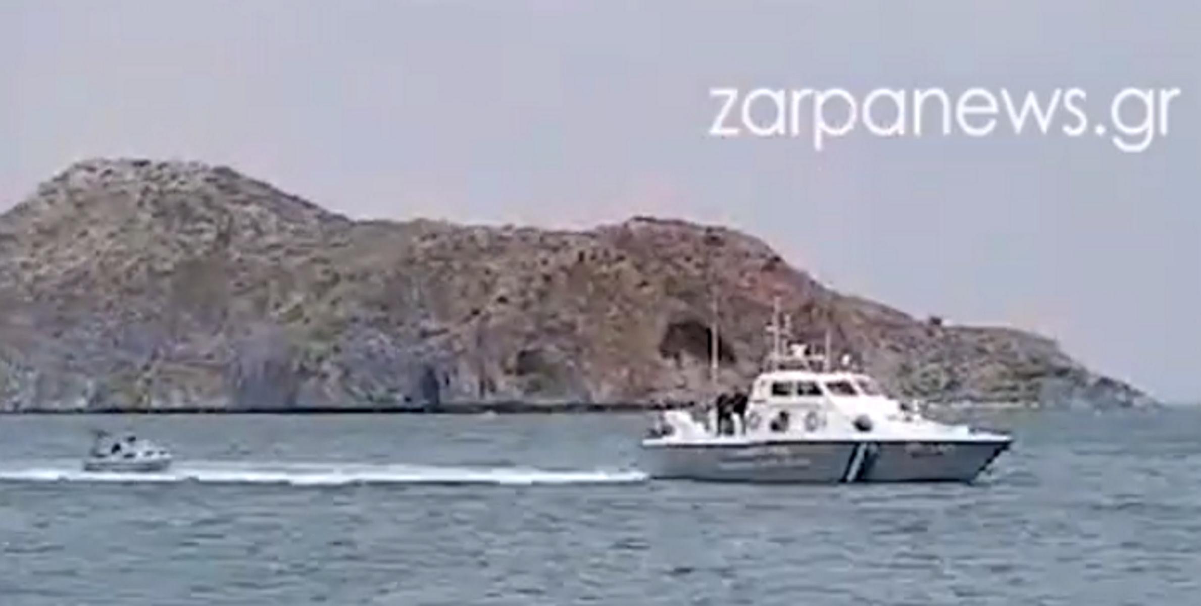 Χανιά: Λιμενικό ρυμούλκησε βάρκα με ψαράδες που έπλεε ακυβέρνητη (video)