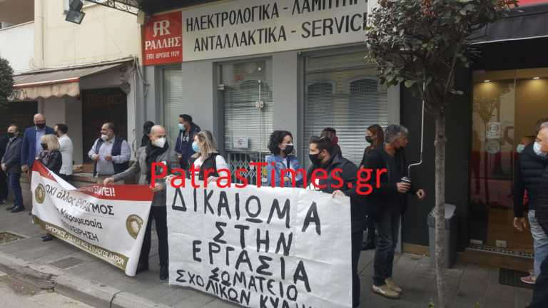 Στην Πάτρα ο Πέτσας - Αποδοκιμασίες από εμπόρους έξω από το Δημαρχείο (pics, video)