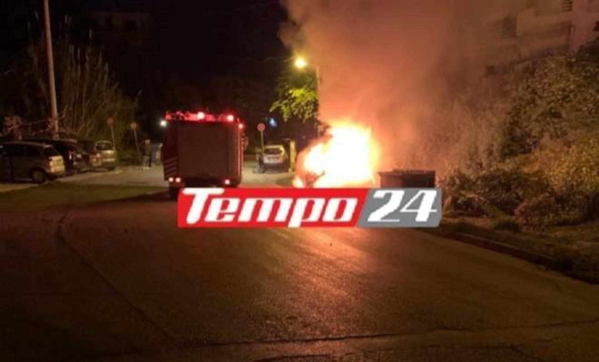Πάτρα: Φωτιά σε αυτοκίνητο επιχειρηματία – Η δεύτερη σε Ι.Χ σε ένα 24ωρο (video)