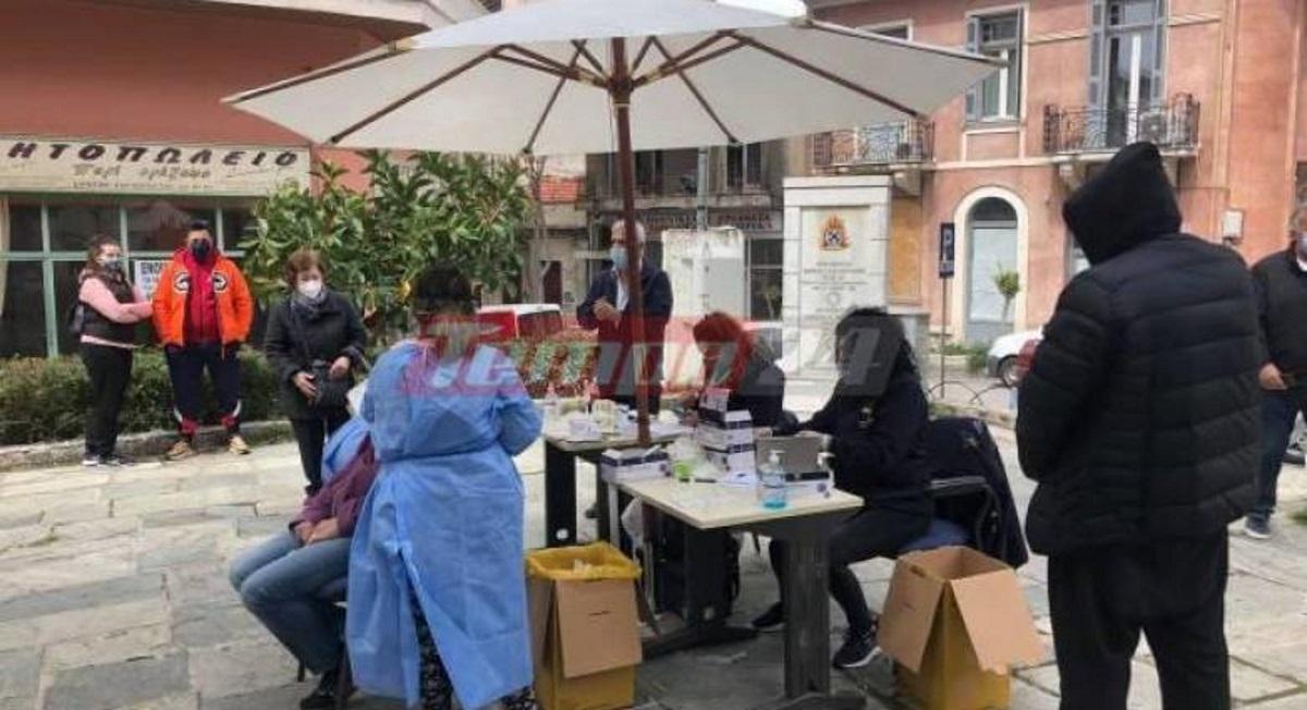 Κορονοϊός: Τρέχουν να κάνουν rapid test στην Πάτρα – Μεγάλη προσέλευση στα σημεία ελέγχου (pics)