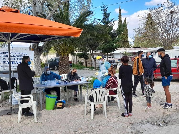 Κορονοϊός: Επιπλέον μέτρα στον οικισμό Ρομά στο Νομισματοκοπείο