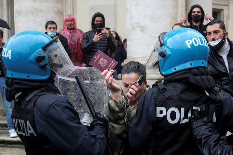 Ιταλία: Επεισόδια σε διαδήλωση με αίτημα το άνοιγμα των επιχειρήσεων
