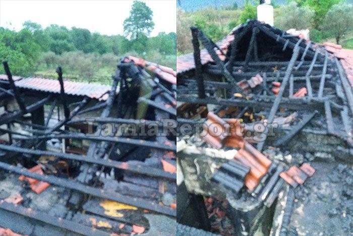 Λαμία: Το εξοχικό έγινε στάχτη – Η μεγάλη φωτιά και η επέμβαση της πυροσβεστικής που ειδοποιήθηκε