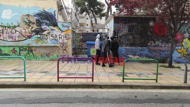 Θεσσαλονίκη: Κατάληψη από μαθητές σε λύκειο (pics)