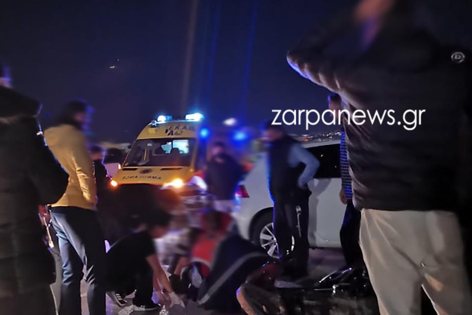 Χανιά: Στο νοσοκομείο οδηγός μηχανής μετά από τροχαίο – Η εικόνα λίγο μετά τη σύγκρουση με αυτοκίνητο