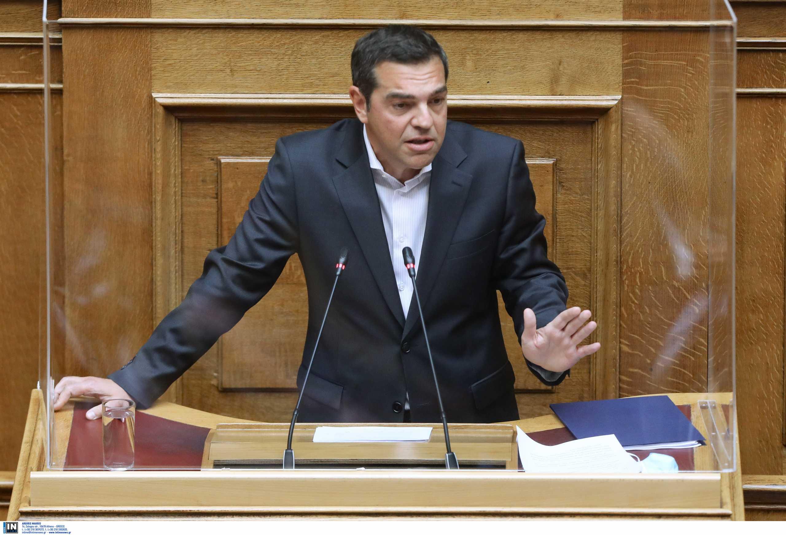 """Τσίπρας: Στυγνή ομολογία ενοχής της κυβέρνησης η τροπολογία για το """"ακαταδίωκτο"""""""