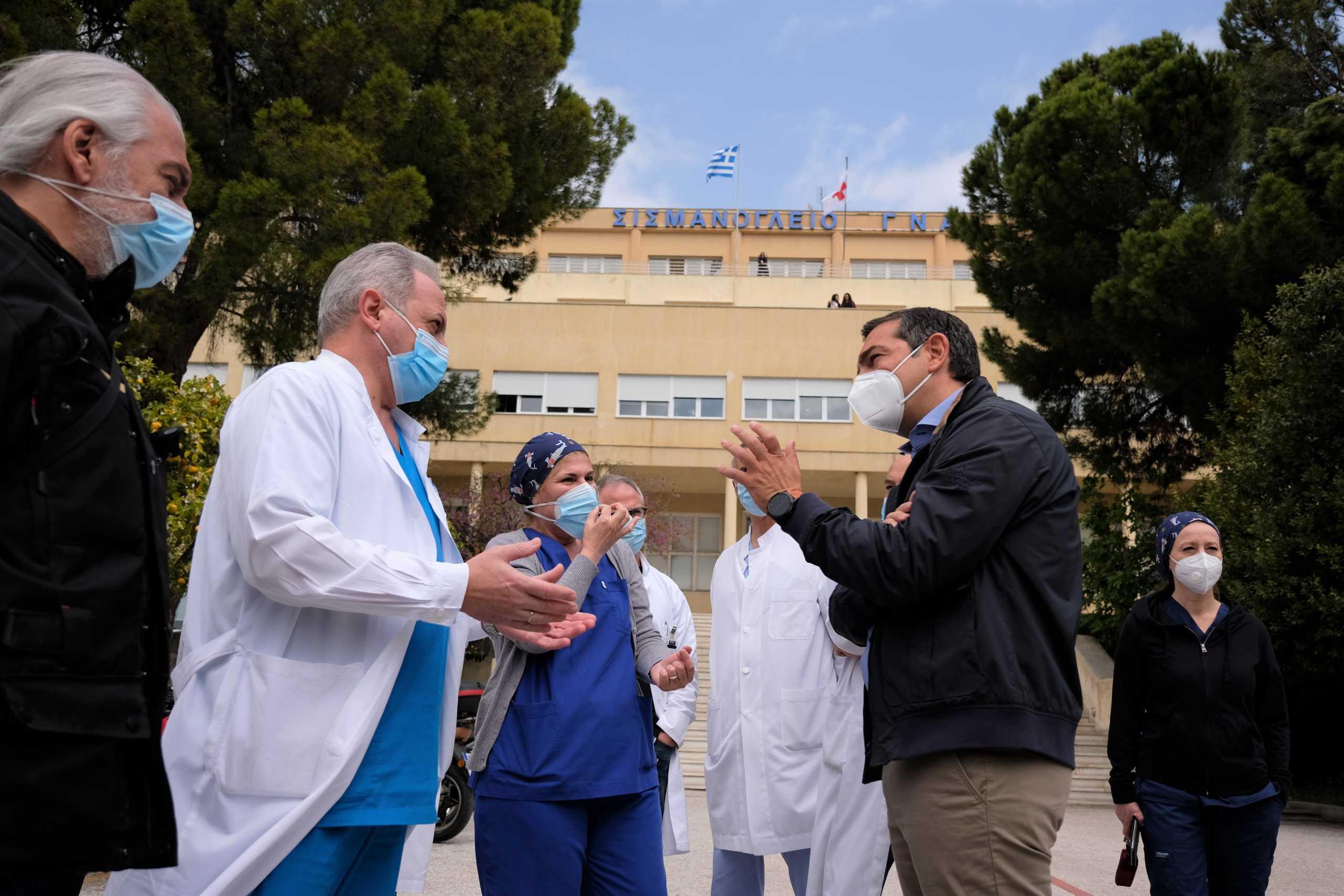 Τσίπρας στο Σισμανόγλειο: Δραματική η κατάσταση στα νοσοκομεία – Βρισκόμαστε στην κορύφωση του δράματος