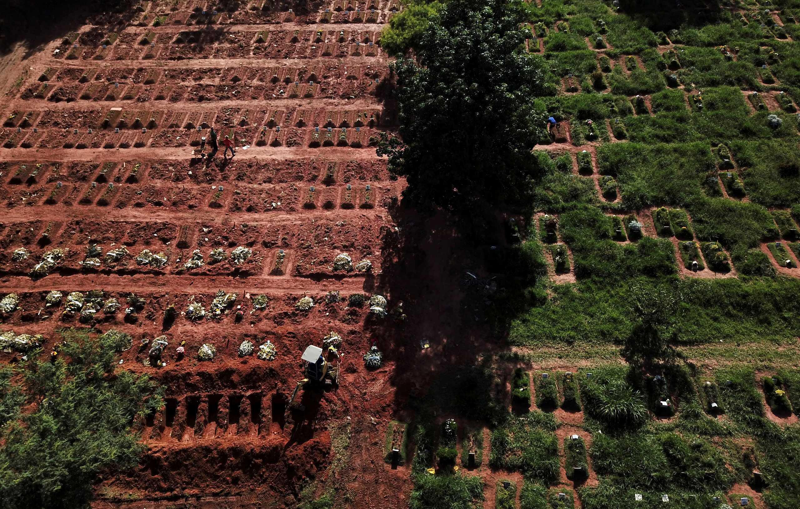 Βραζιλία: 82.266 θάνατοι από κορονοϊό μόνο τον Απρίλιο! 2.595 την τελευταία μέρα