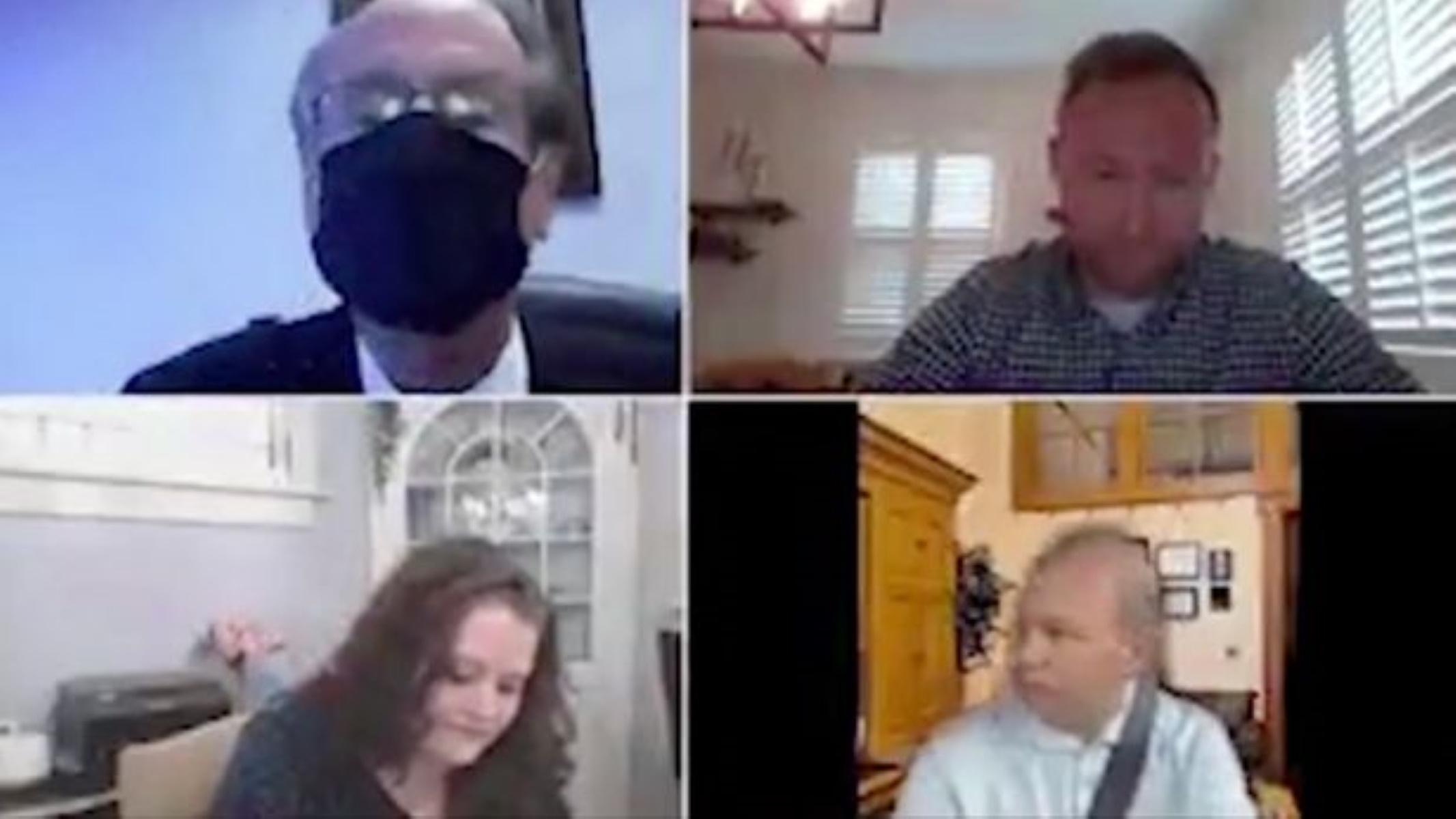 Απίστευτο zoom meeting: Γερουσιαστής βάζει ψεύτικο φόντο για να μην φανεί ότι οδηγεί (video)
