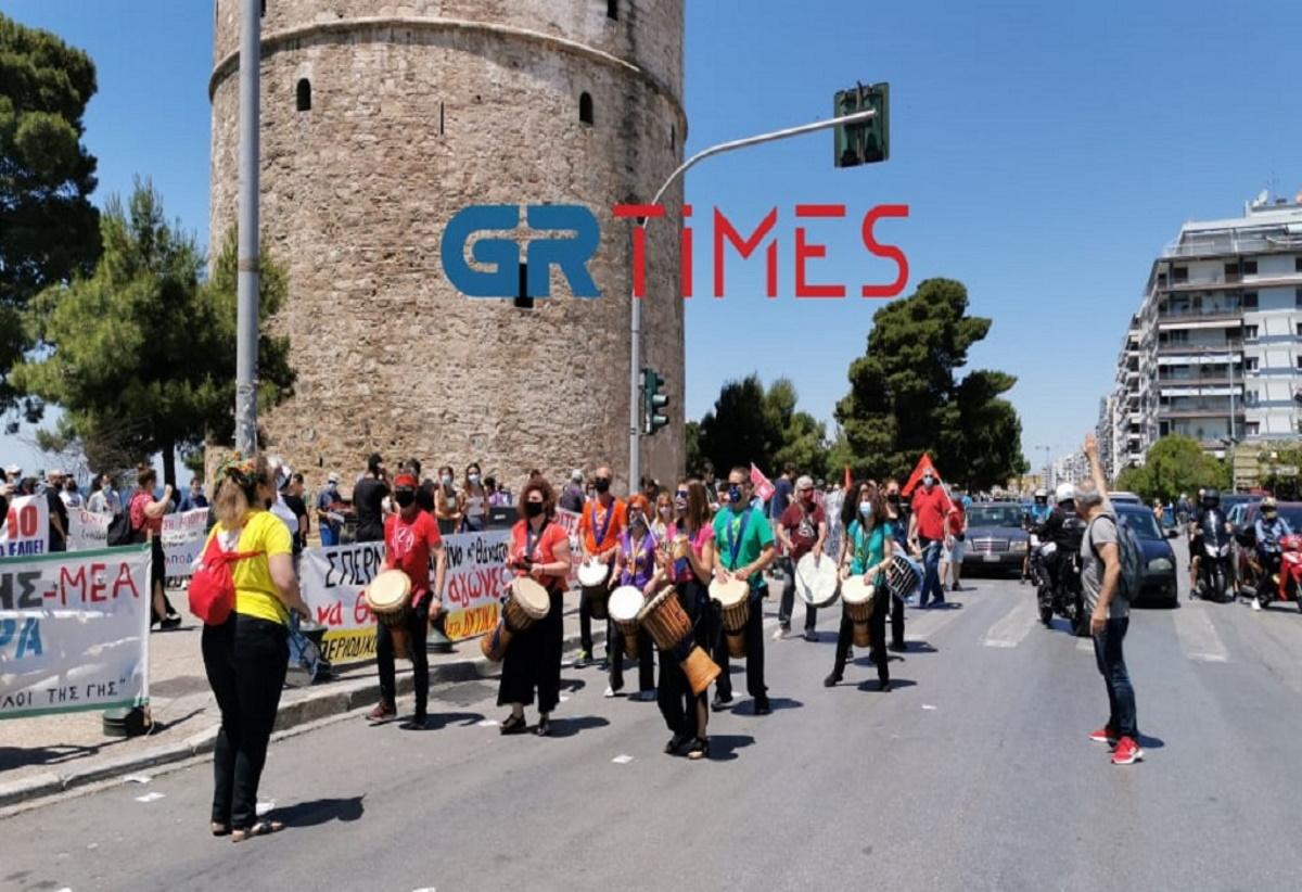 Διαμαρτυρία μετά μουσικής στη Θεσσαλονίκη (video)