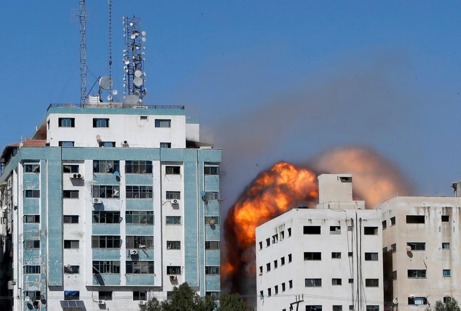 ISRAEL PALESTINIANS TOWER MEDIA