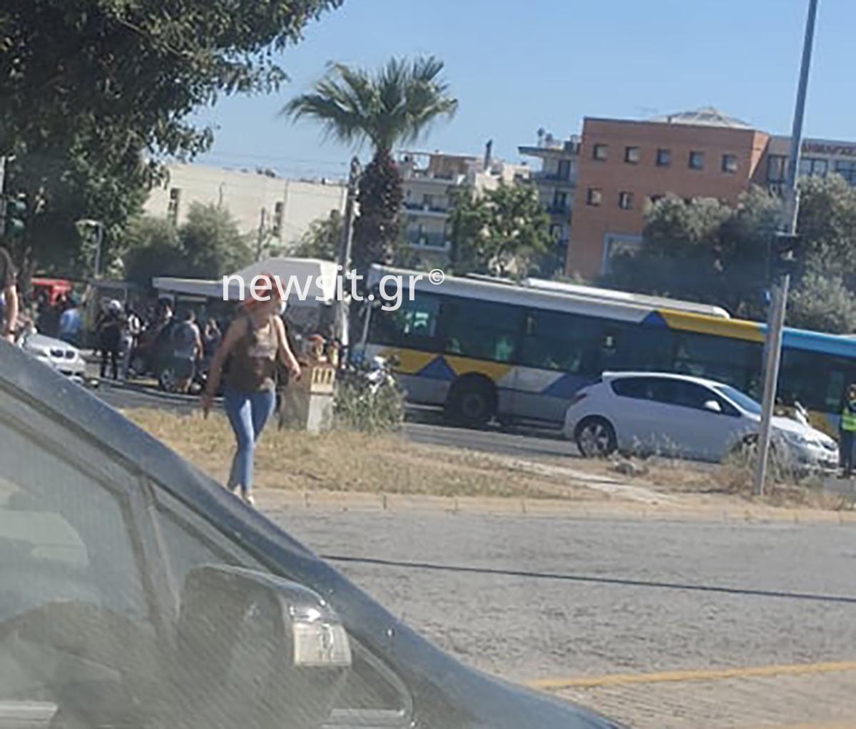 Τρελή κούρσα λεωφορείου στην λεωφόρο Καβάλας στο Παλατάκι (pics)