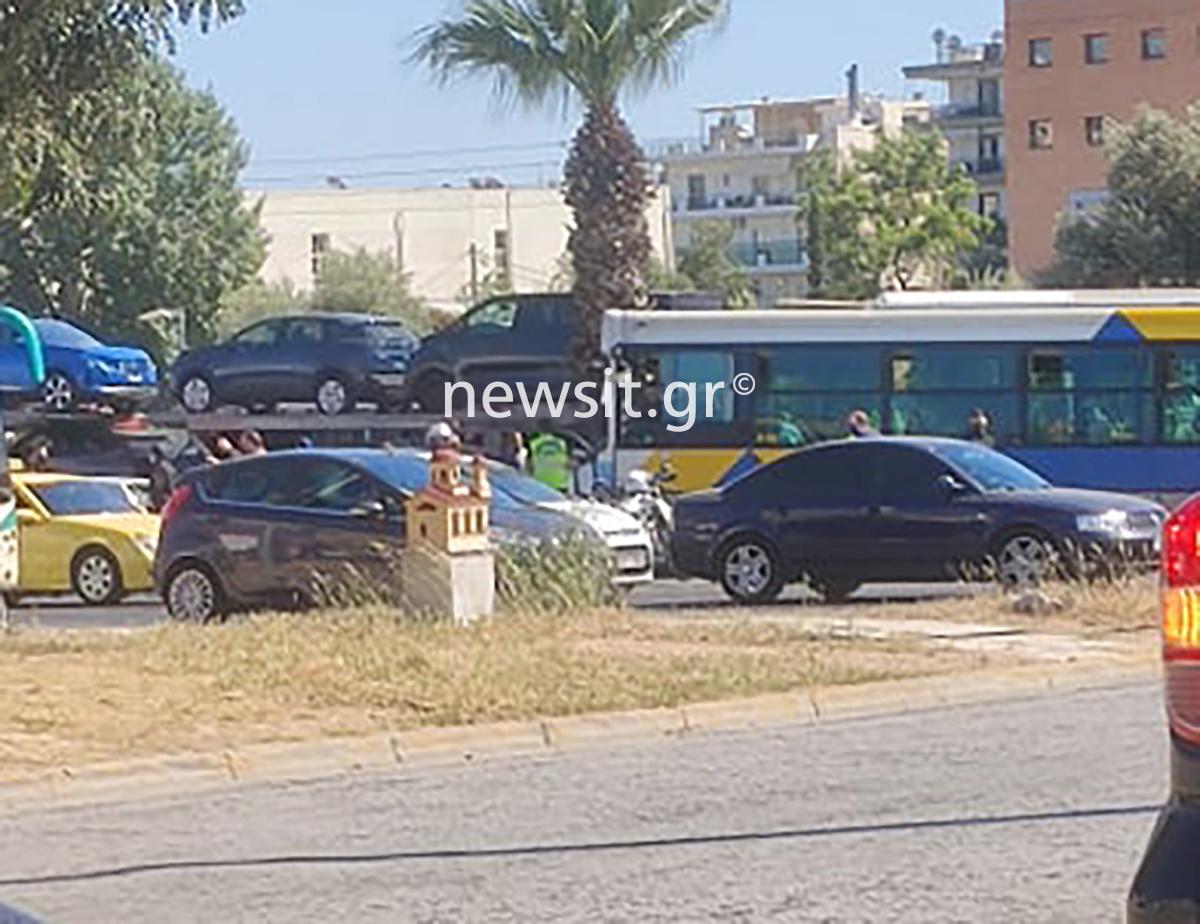 Κόλαση στην λεωφόρο Καβάλας από τρελή κούρσα λεωφορείου – Πως έγινε