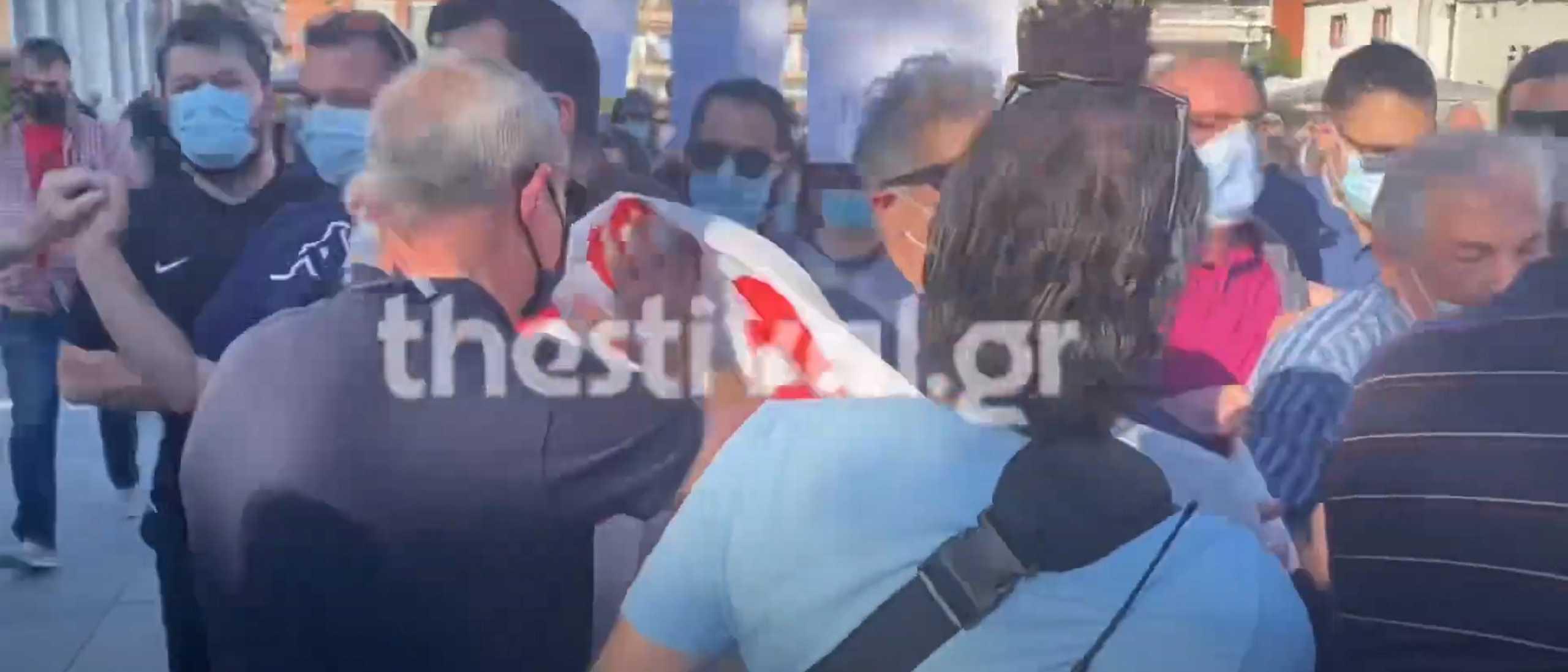 Καλαμαριά: Ένταση μεταξύ ΠΑΜΕ και αστυνομίας κατά την αποχώρηση Μητσοτάκη (video)