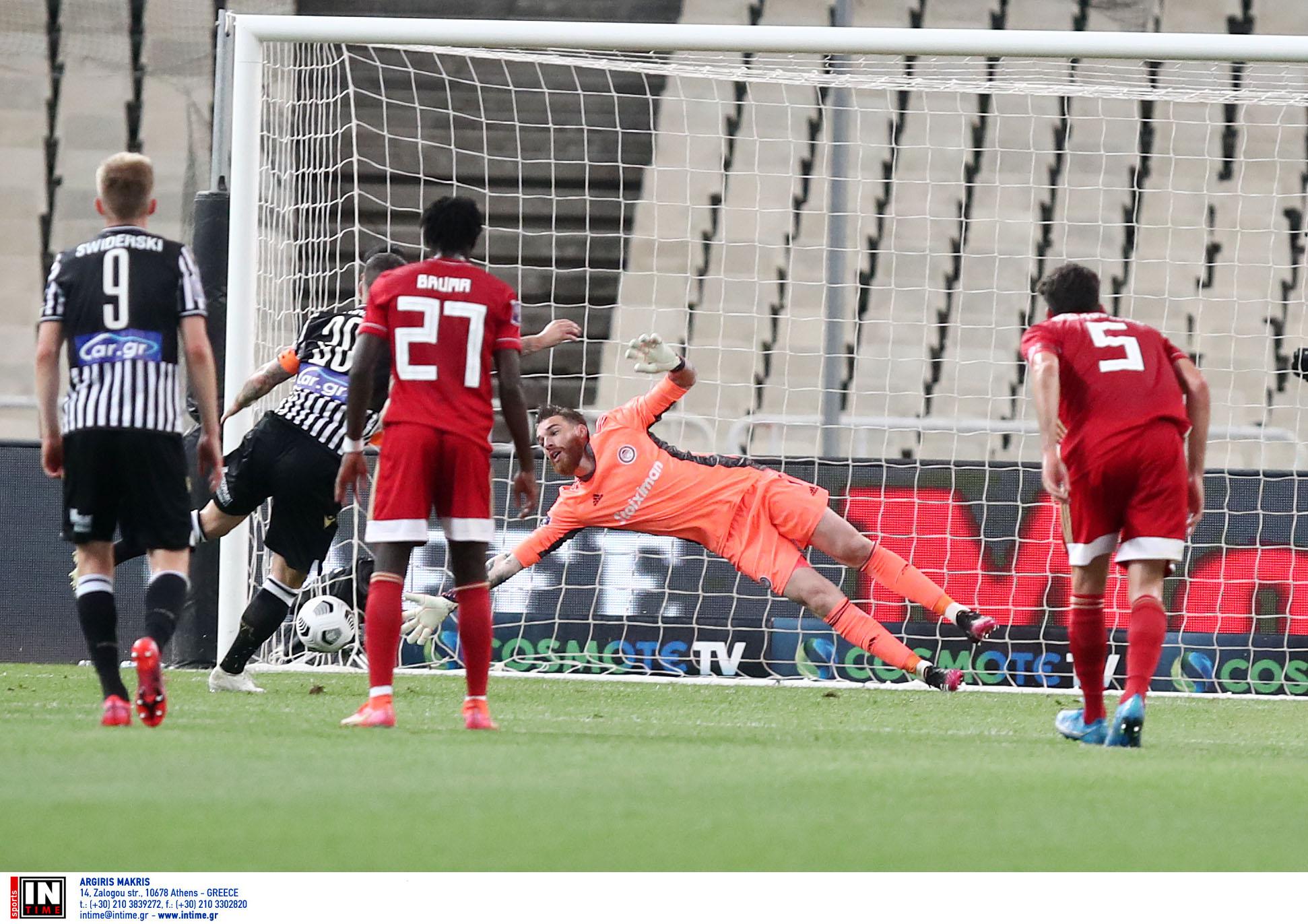 Ολυμπιακός – ΠΑΟΚ: Το πέναλτι γκολ του Βιεϊρίνα στον τελικό