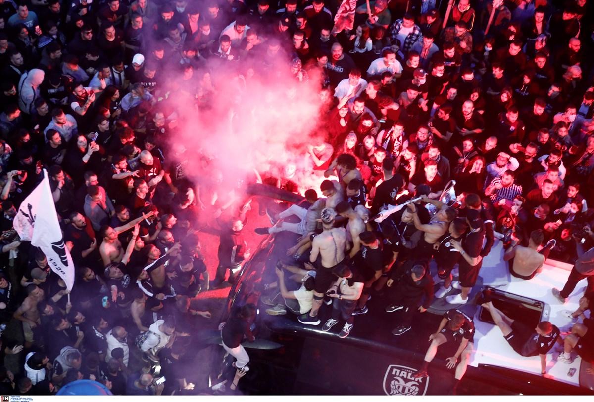 ΠΑΟΚ: Υποδοχή ηρώων και «πάρτι» μέχρι τα ξημερώματα για τον Κυπελλούχο Ελλάδας