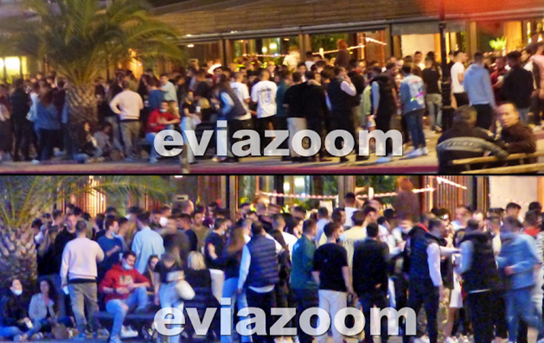 Χαλκίδα: «Τρελό» κορονοπάρτι έξω από μπαρ στην παραλία – «Περίπατο» τα μέτρα προστασίας (video)