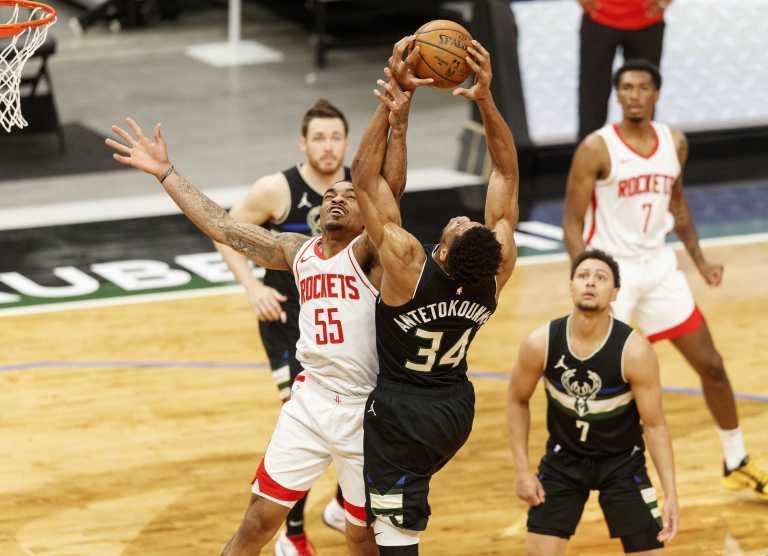 NBA: Ανετη νίκη για Μπακς με «σβηστό» Αντετοκούνμπο