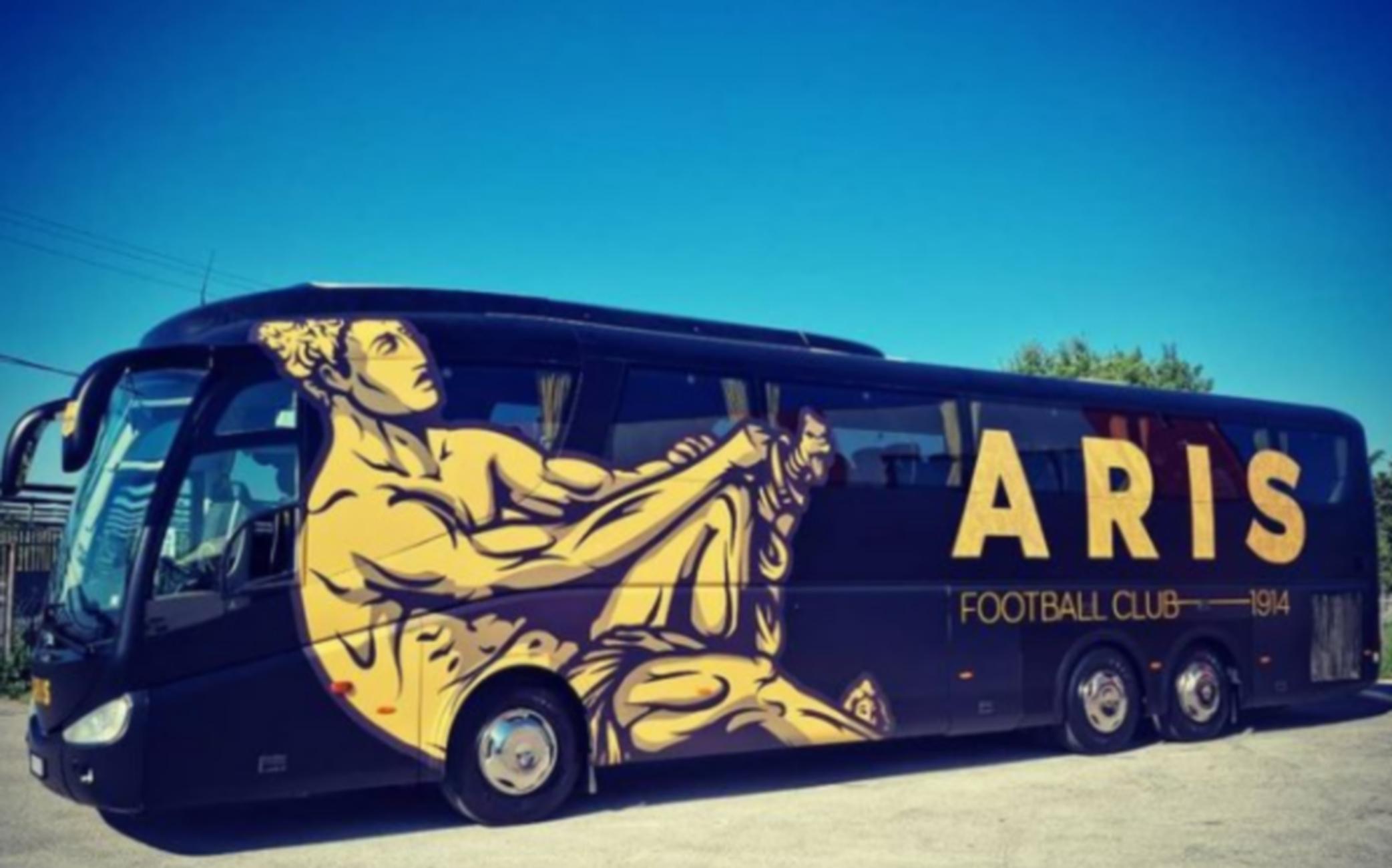 Άρης: Εντυπωσιάζει το νέο λεωφορείο της ομάδας