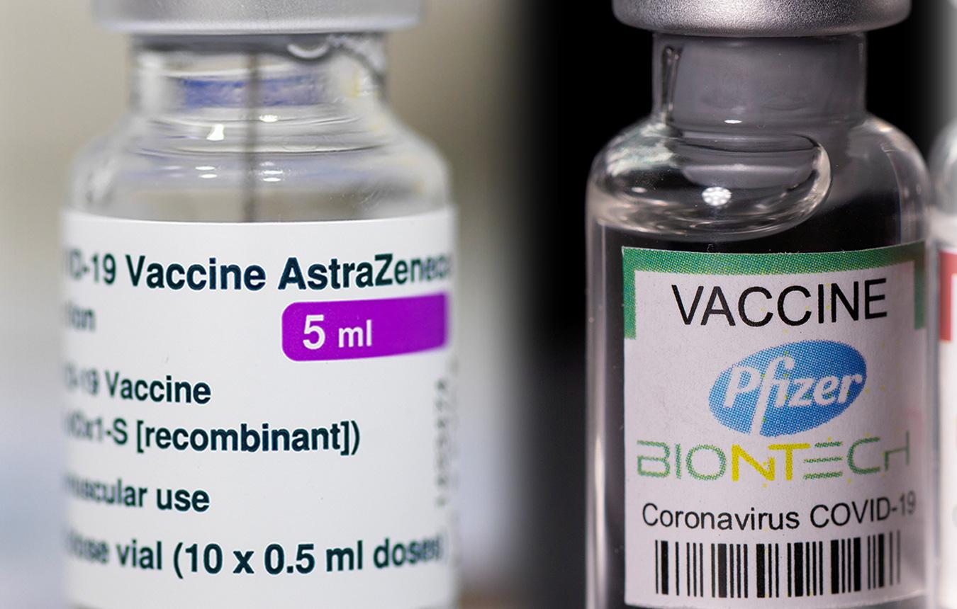 Πρώτη δόση με AstraZeneca και δεύτερη με Pfizer; Ασφαλές και αποτελεσματικό δείχνει μελέτη