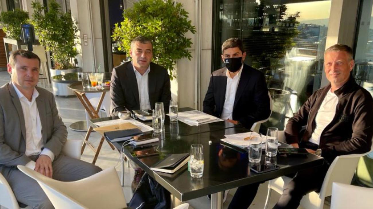 Συνάντηση του Αυγενάκη με αντιπροσωπεία της UEFA και Κλάτενμπεργκ
