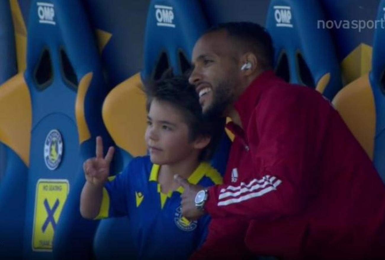 Αστέρας Τρίπολης – Ολυμπιακός: Η selfie του γιου του Μπαράλες με τον Ελ Αραμπί