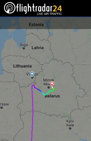 Λευκορωσία: «Μέσα» στην πτήση της Ryanair την ώρα της «αεροπειρατείας»