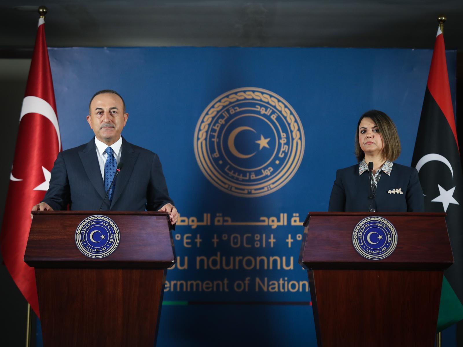 «Κάγκελο» ο Τσαβούσογλου με την υπουργό Εξωτερικών Λιβύης: Να αποσυρθούν ξένα στρατεύματα και μισθοφόροι