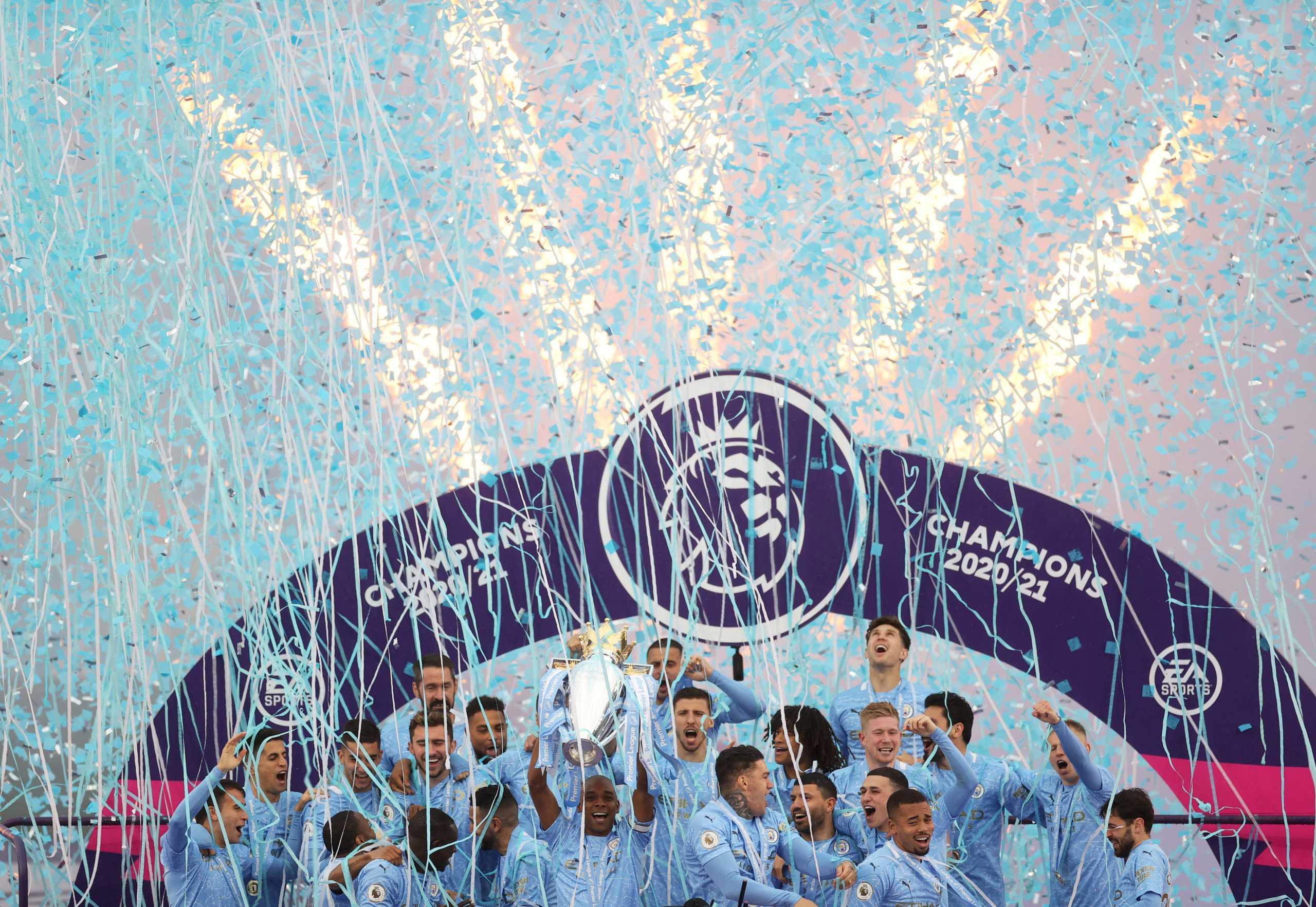 Premier League: Η απονομή του πρωταθλήματος στη Σίτι