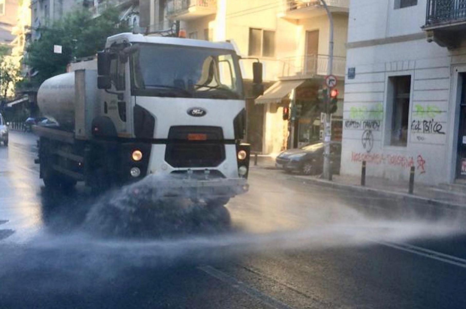 Δήμος Αθηναίων: Μεγάλη επιχείρηση καθαριότητας και απολύμανσης στα Πατήσια (pics)