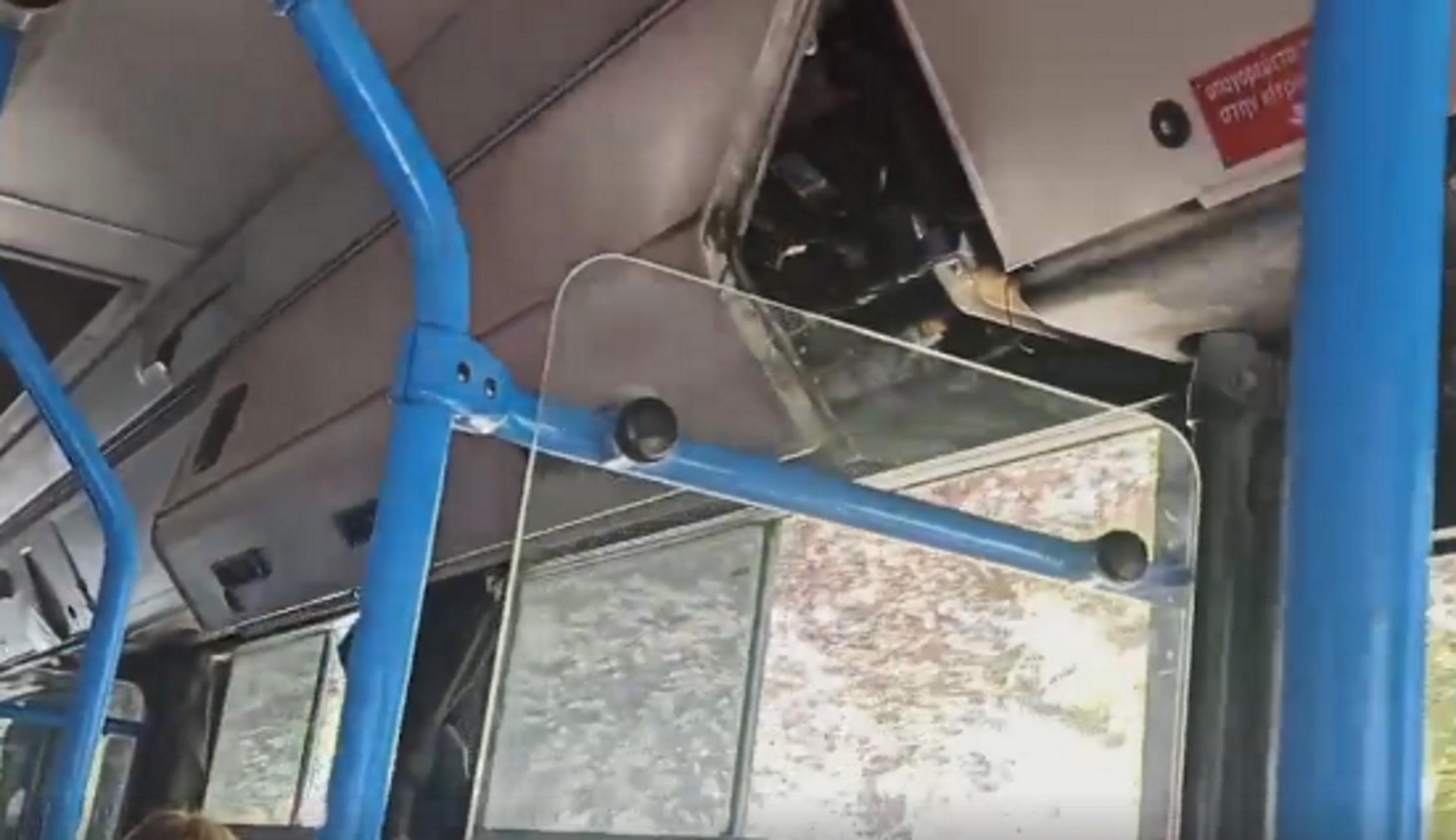 Θεσσαλονίκη: Μέσα στο λεωφορείο με τα χέρια πάνω στα κεφάλια τους – Νέες σκηνές απείρου κάλλους (video)