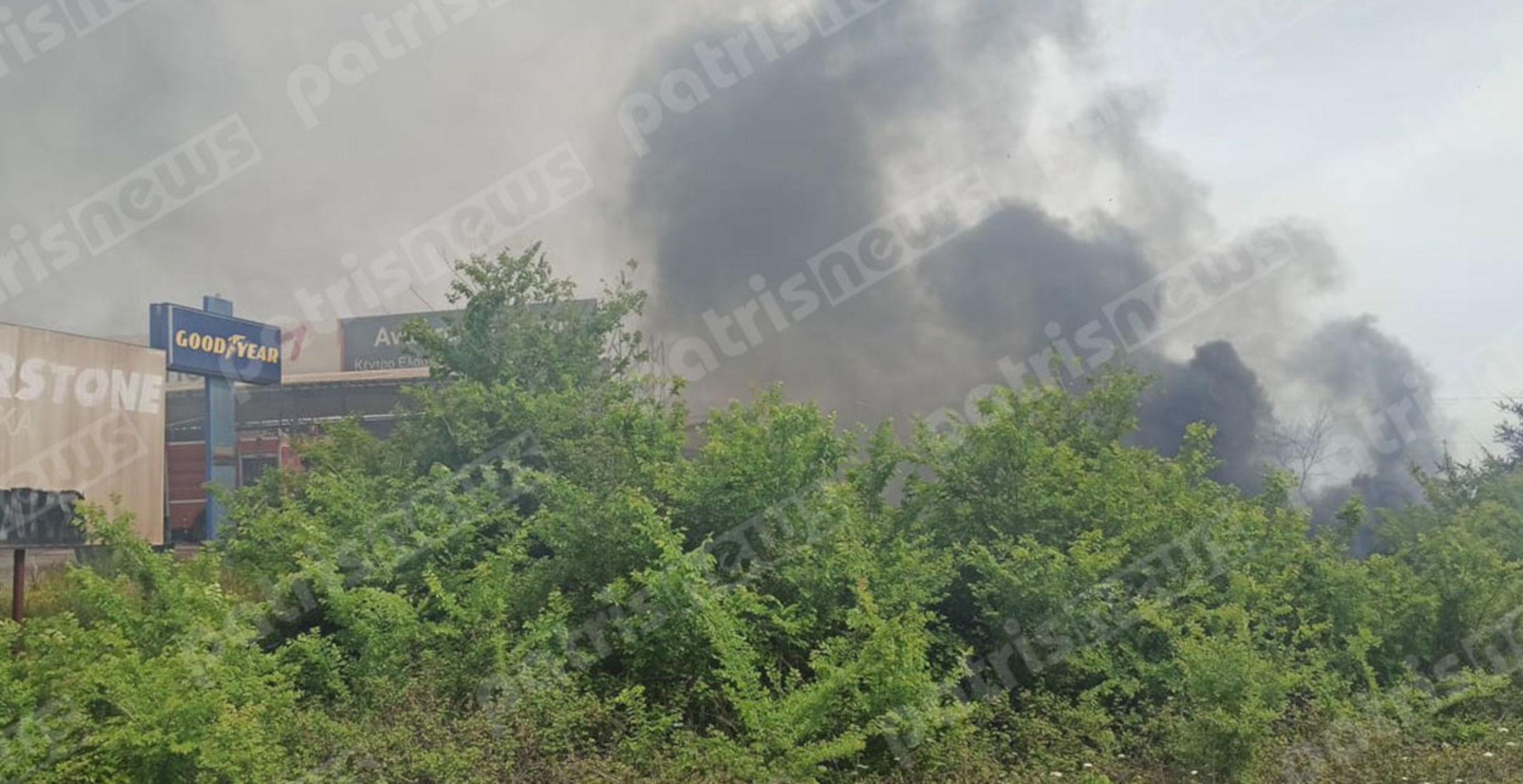 Ηλεία: Μεγάλη φωτιά κοντά στην εθνική Πατρών – Πύργου (pics)