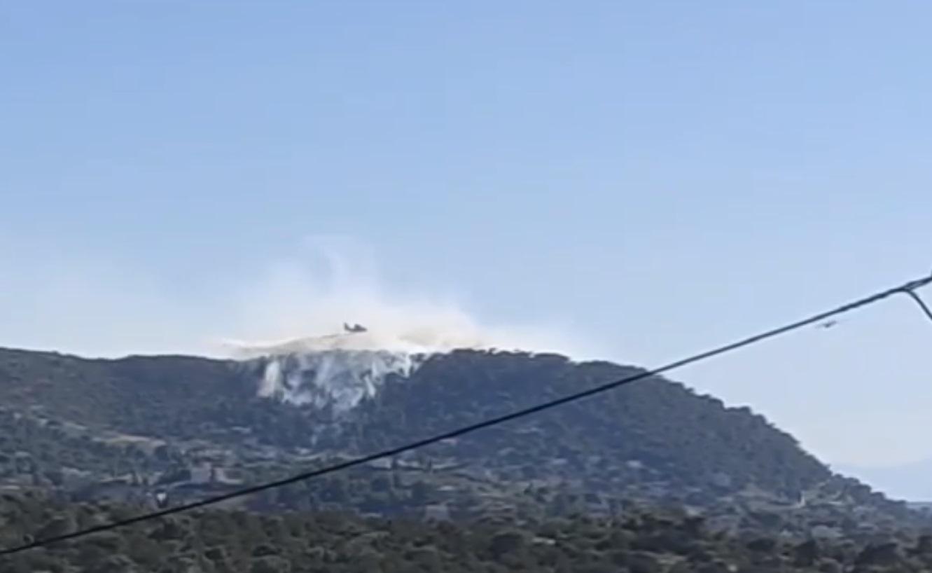 Κορωπί: Καλύτερη η εικόνα της φωτιάς στην Αγία Μαρίνα – Άνοιξε η λεωφόρος Αθηνών – Σουνίου