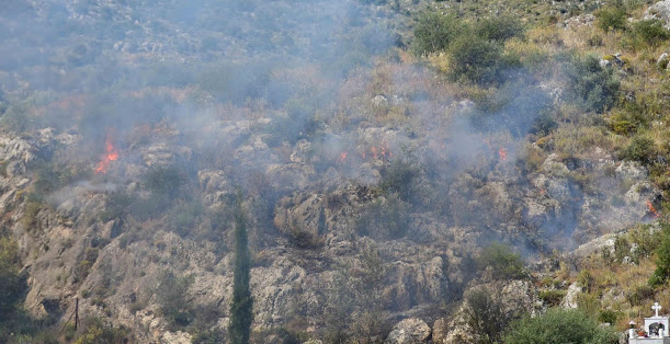 Φωτιά στο Ναύπλιο (video)