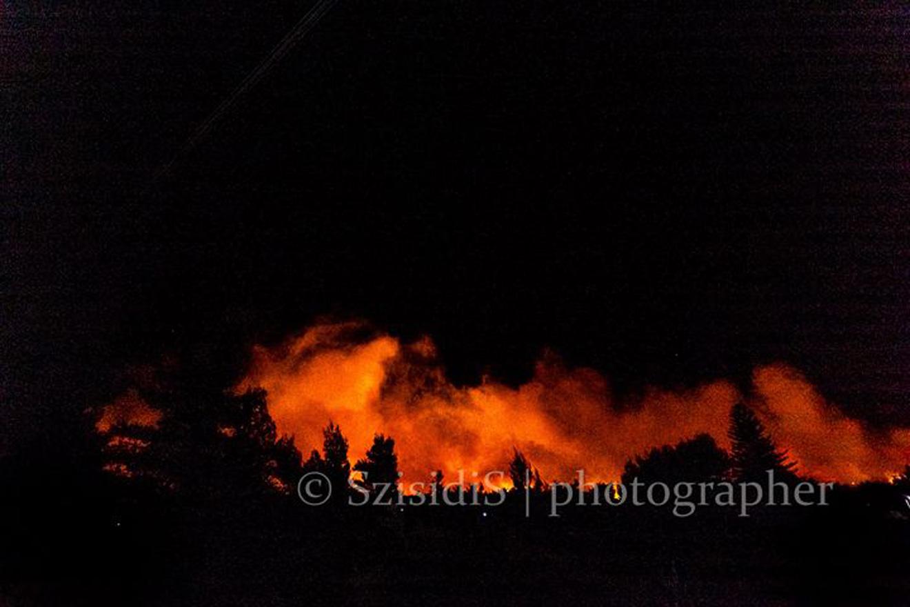 Κατακαίει τα πάντα η φωτιά στον Σχίνο Κορινθίας – Καταστράφηκαν σπίτια, εκκενώθηκαν οικισμοί (pics, video)