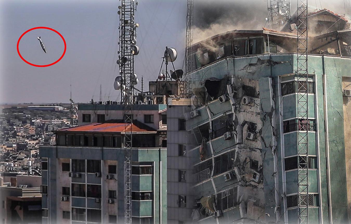 Γάζα: Ο πύραυλος του Ισραήλ χτυπά το κτίριο των Associated Press και Al Jazeera – Εικόνες σοκ