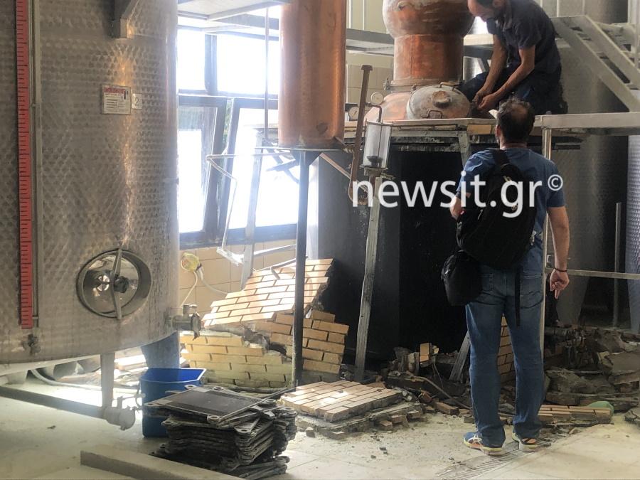 image00002 - Εικόνες από την έκρηξη στο αποστακτήριο του Τυρνάβου (φωτο-βίντεο)