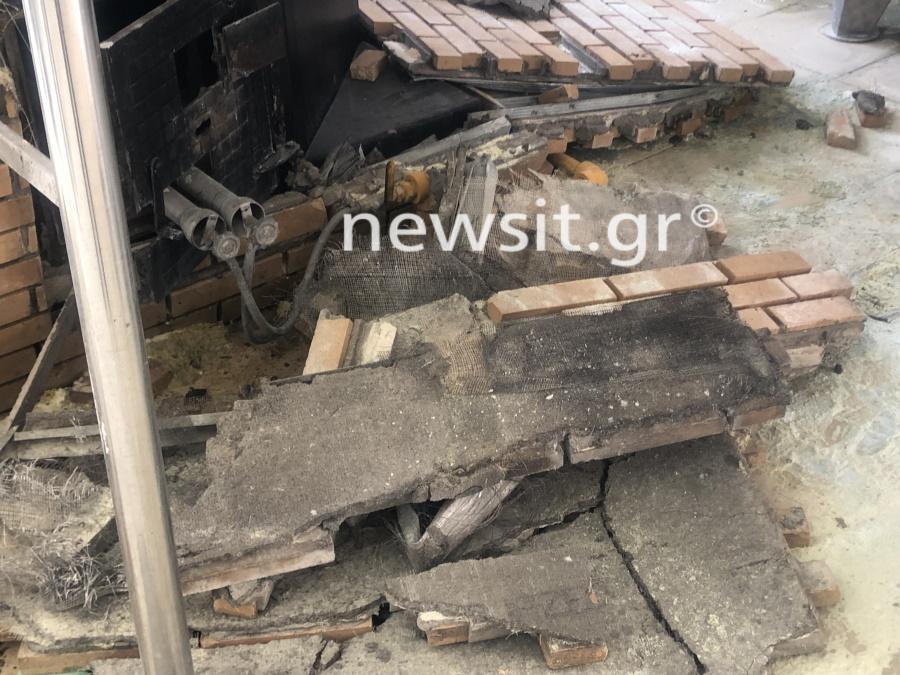 image00005 - Εικόνες από την έκρηξη στο αποστακτήριο του Τυρνάβου (φωτο-βίντεο)