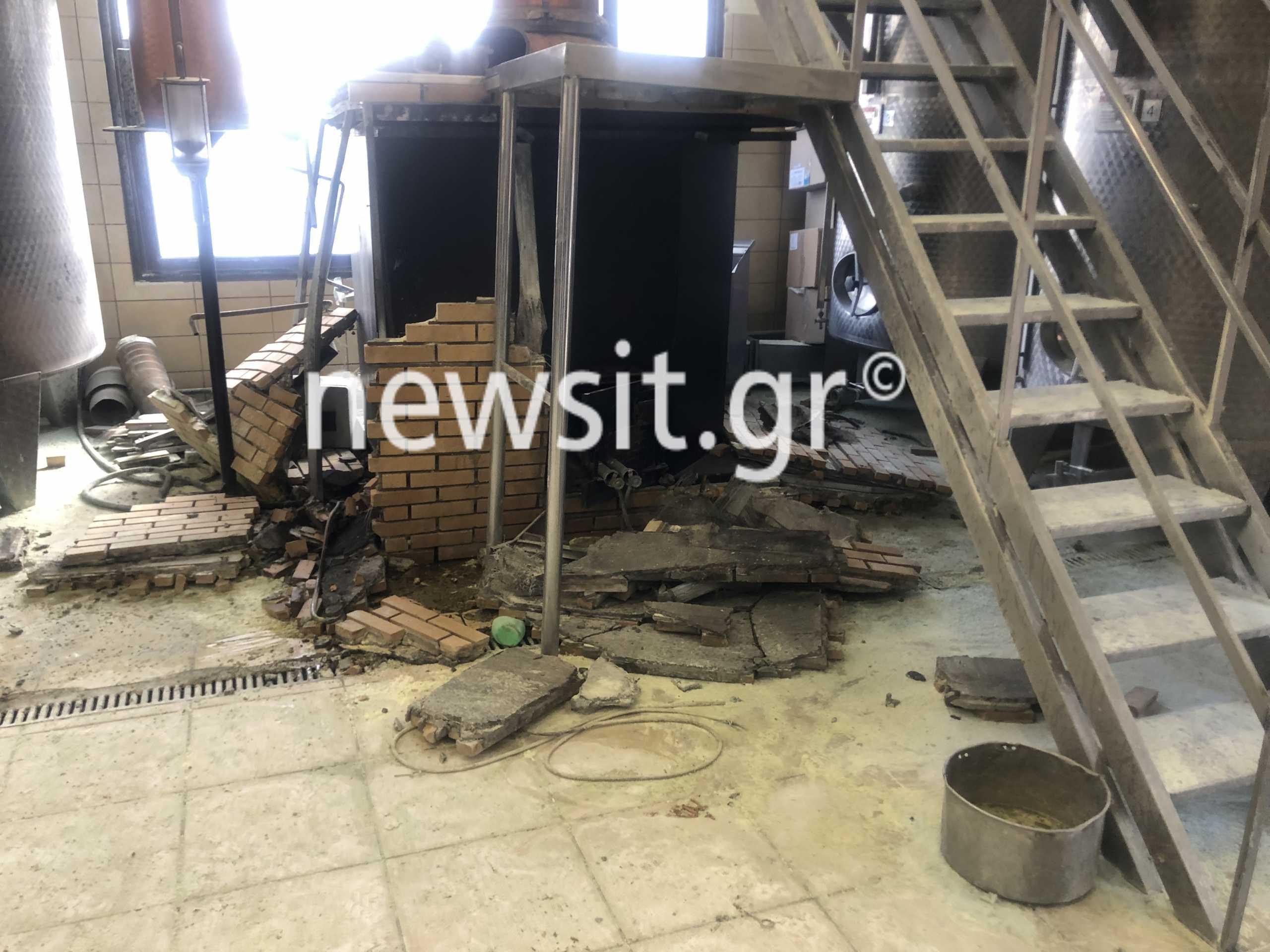 Συγκλονιστικές εικόνες λίγο μετά την έκρηξη στο αποστακτήριο του Τυρνάβου (pics)