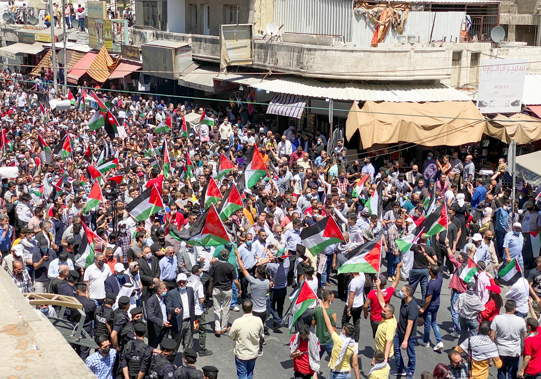 Ιορδανία: Χιλιάδες κόσμου διαδηλώνουν υπέρ των παλαιστινίων