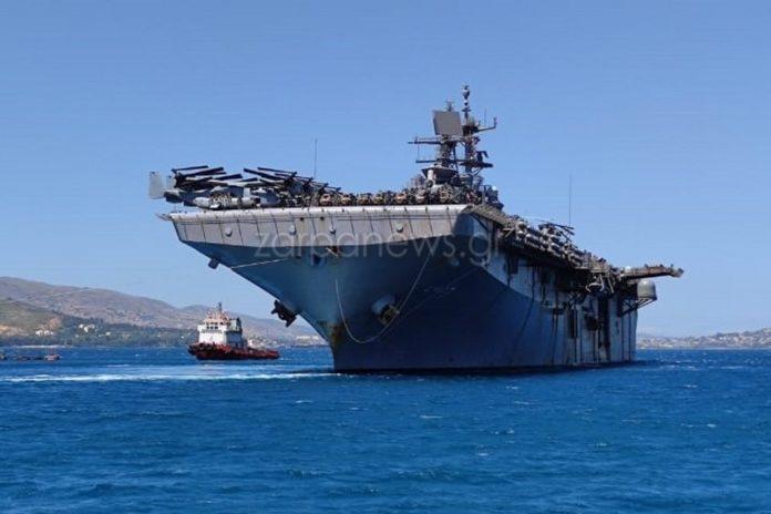 Έδεσε στη Σούδα το θηριώδες ελικοπτεροφόρο USS Iwo Jima [pics]