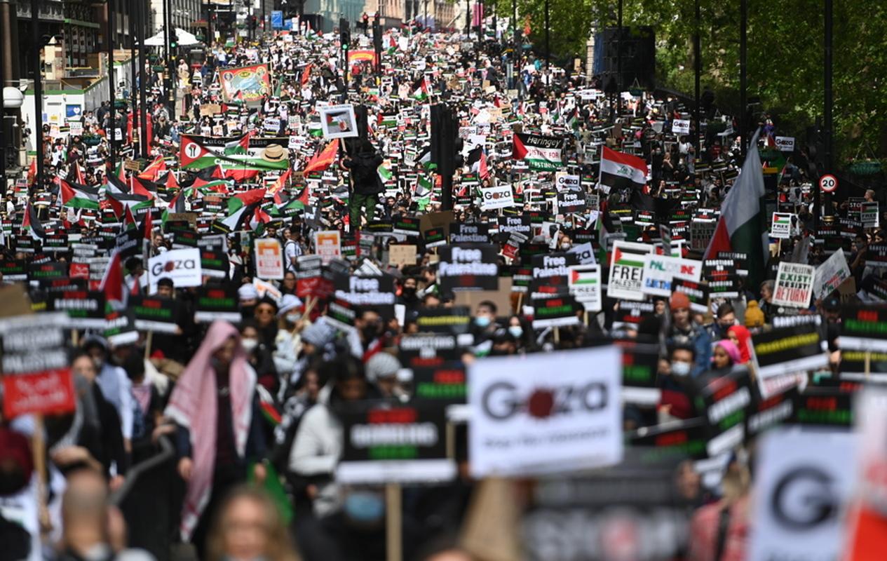 Βρετανία: Διαδήλωση συμπαράστασης στο Λονδίνο υπέρ των Παλαιστινίων
