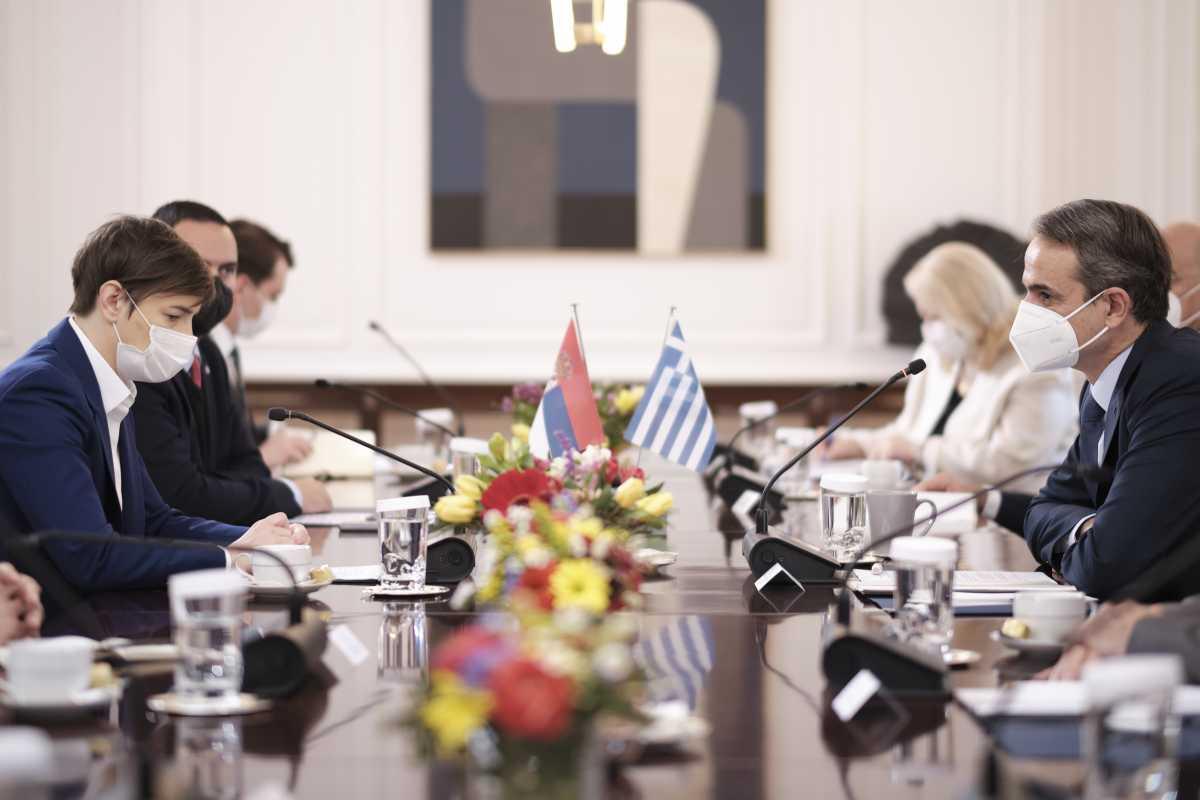 Μητσοτάκης σε Μπρνάμπιτς: «Ανυπομονούμε να δεχτούμε τους Σέρβους τουρίστες στην Ελλάδα»