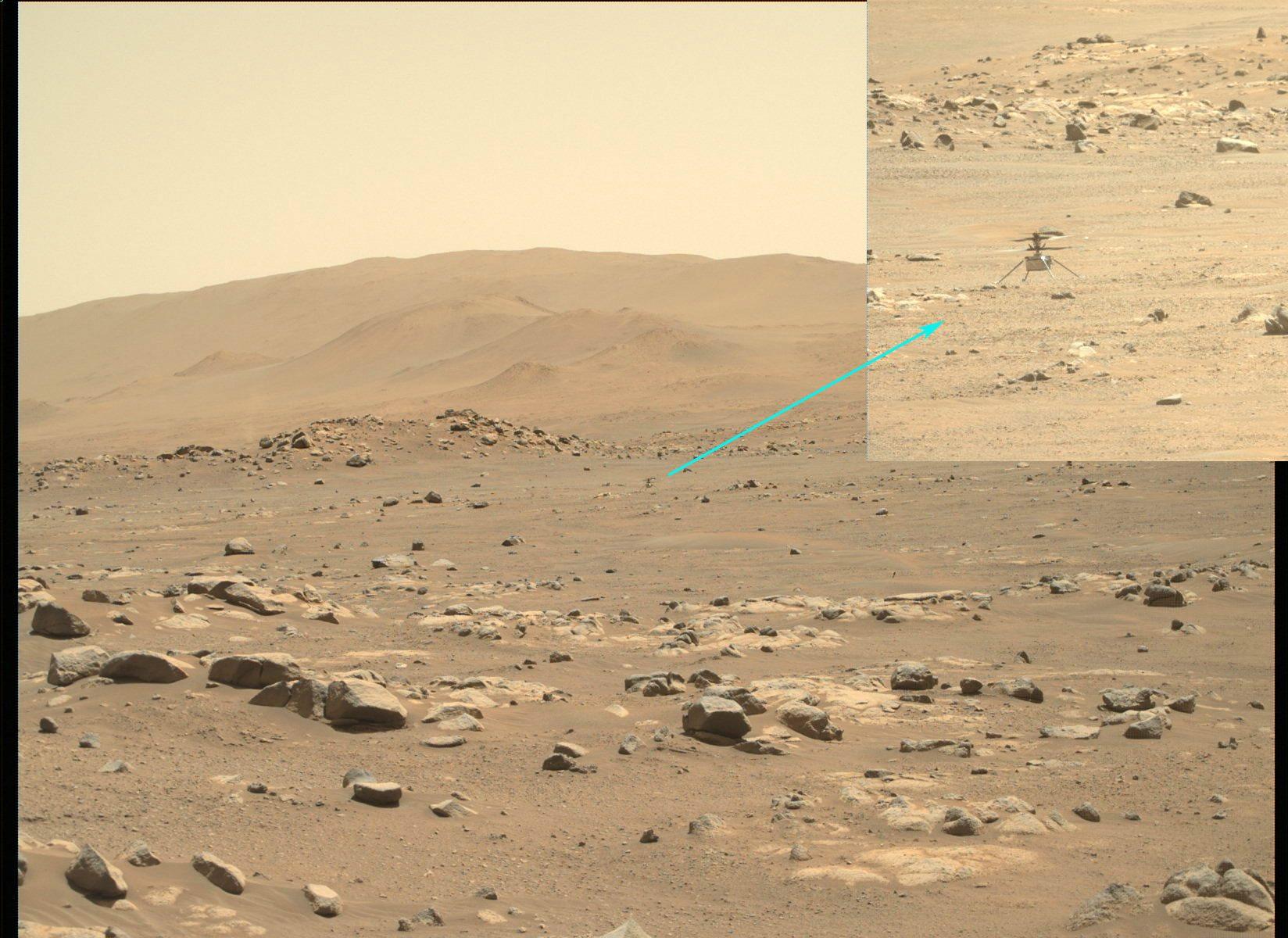 Την πέμπτη του πτήση στον πλανήτη Άρη πραγματοποίησε το «Ingenuity» της NASA