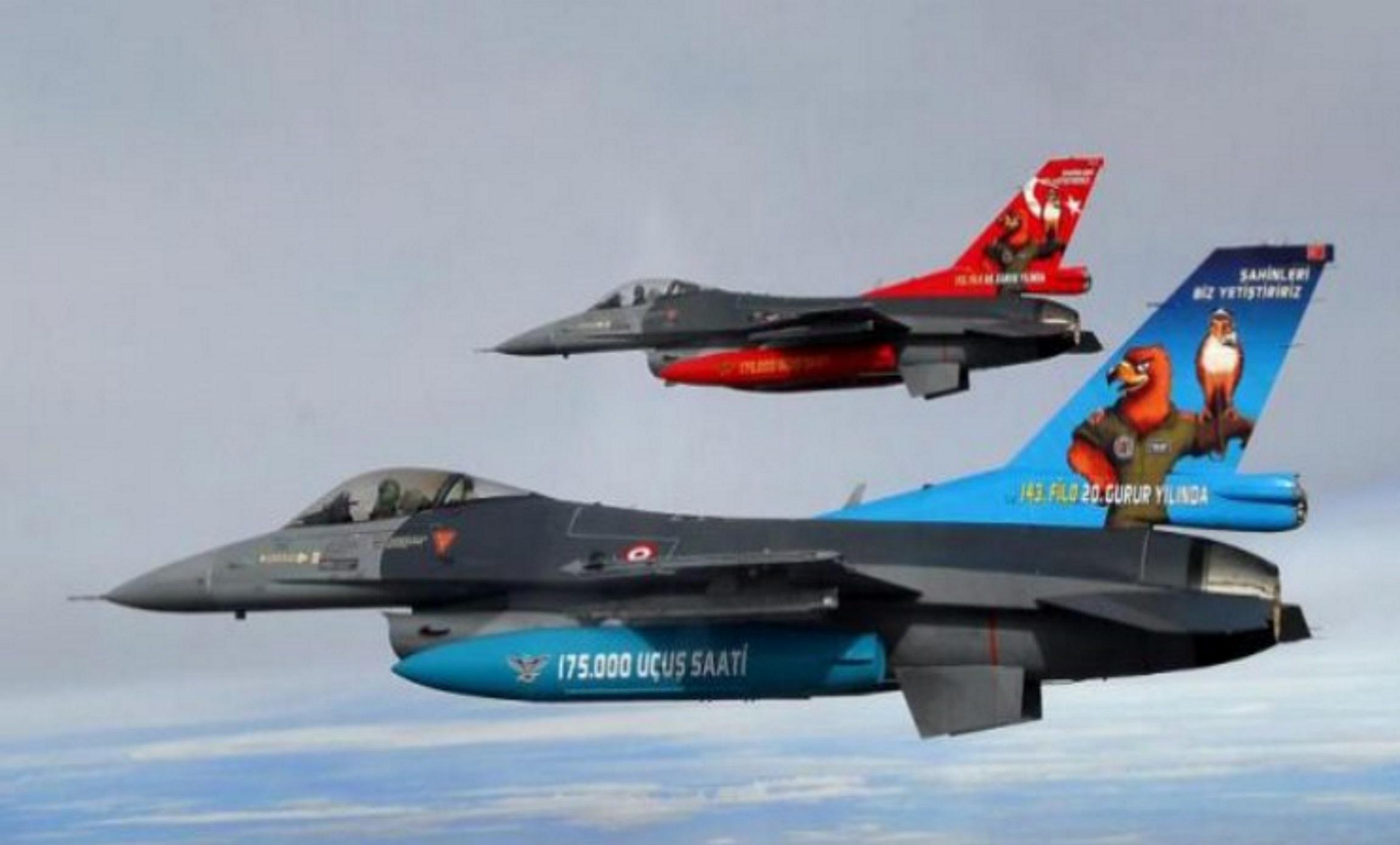 Κλιμακώνουν τις εντάσεις οι Τούρκοι με υπερπτήσεις μαχητικών F-16 στο Αιγαίο!